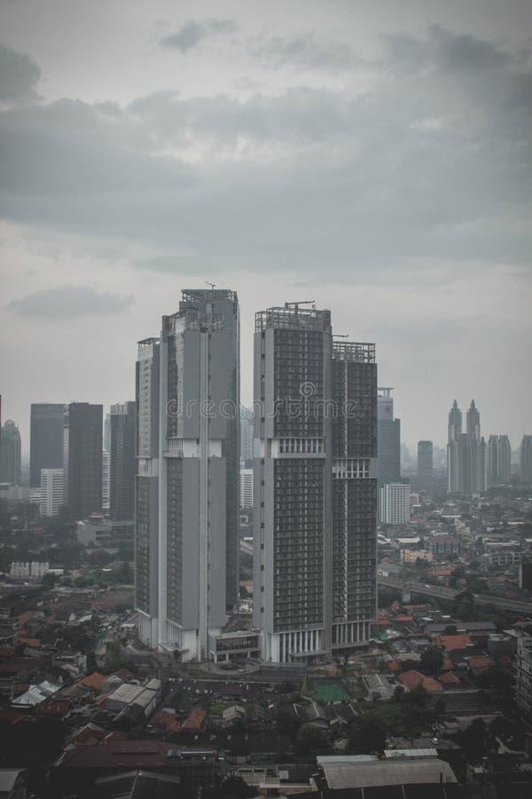 Pejzaż miejski w Dżakarta, Indonezja fotografia stock