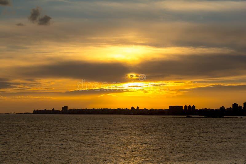Pejzaż miejski w Montevideo, Urugwaj fotografia royalty free