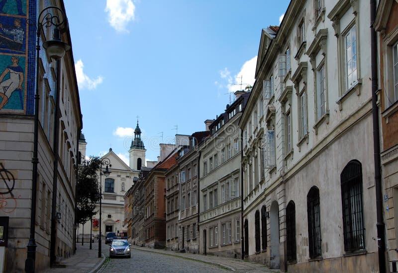 Pejzaż miejski Warszawa obraz stock
