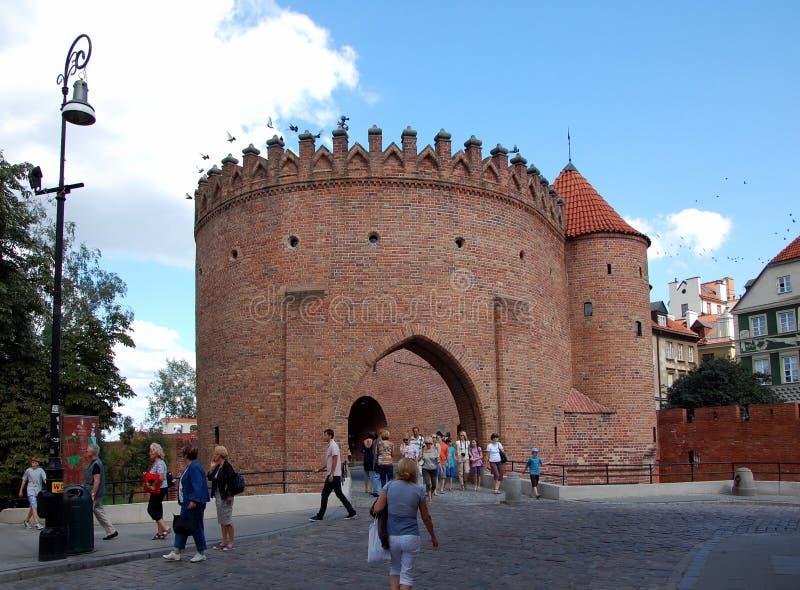 Pejzaż miejski Warszawa obraz royalty free
