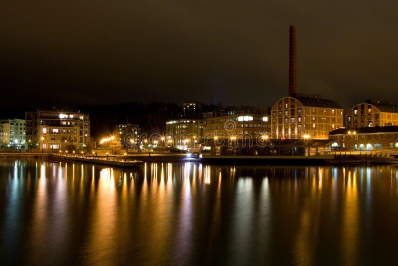 pejzaż miejski wieczór Lahti obrazy royalty free