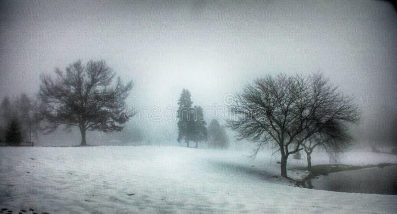 Pejzaż zimowy obrazy royalty free