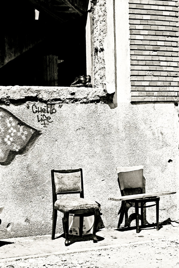 pejzażu getta miejskiego życia obrazy stock