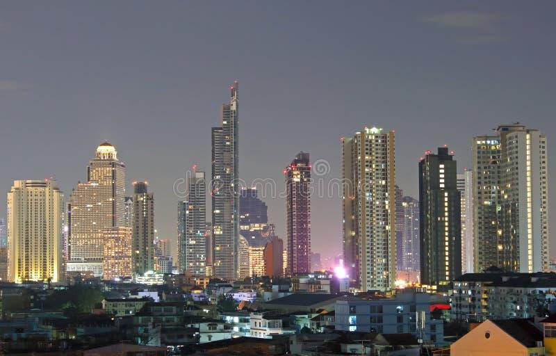 Pejzażu miejskiego widok Bangkok nowożytni biurowi biznesowi budynki fotografia stock