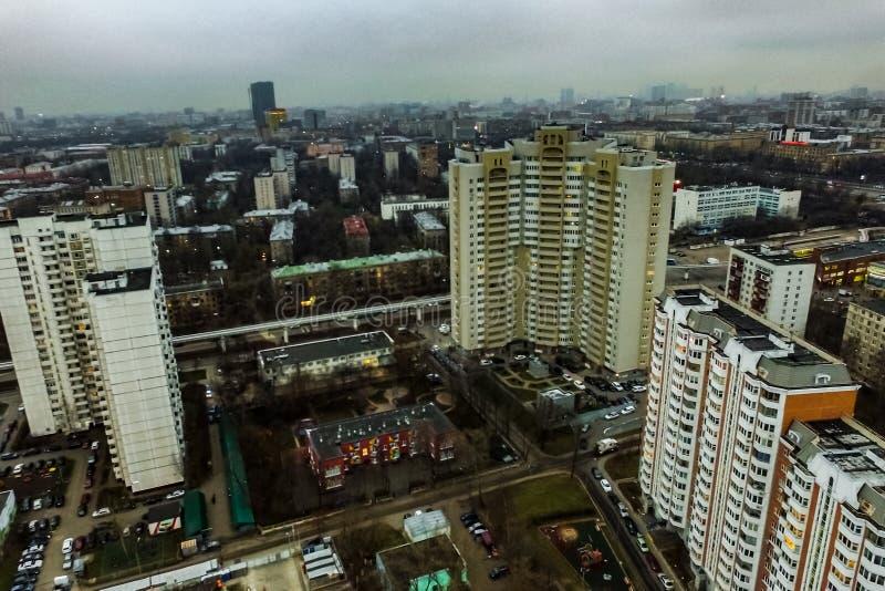 Pejzażu miejskiego widok Od Above zdjęcia royalty free