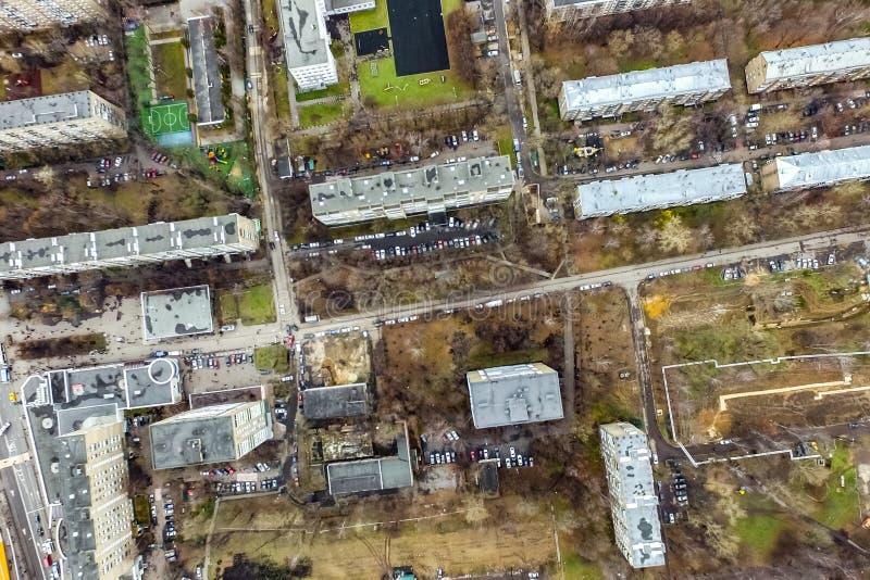 Pejzażu miejskiego widok Od Above obrazy royalty free