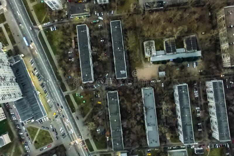 Pejzażu miejskiego widok Od Above zdjęcia stock