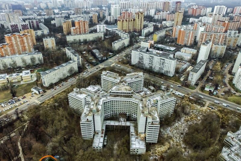 Pejzażu miejskiego widok Od Above fotografia royalty free