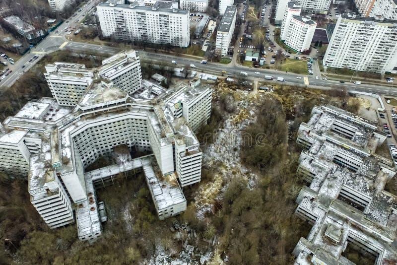 Pejzażu miejskiego widok Od Above obraz stock