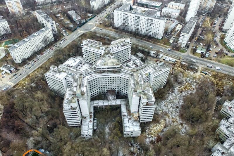 Pejzażu miejskiego widok Od Above fotografia stock