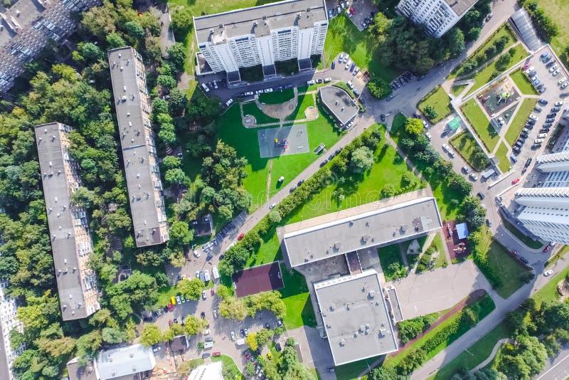 Pejzażu miejskiego widok Od Above obraz royalty free