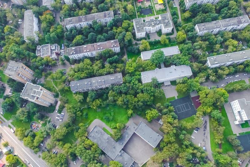 Pejzażu miejskiego widok Od Above obrazy stock