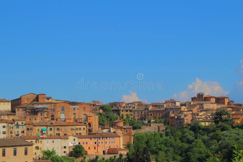 Pejzażu miejskiego widok stary Siena obraz stock