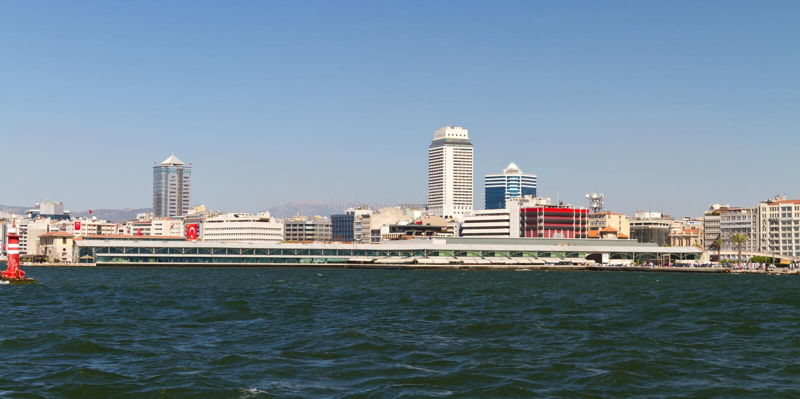 Pejzaż miejski Izmir, Turcja