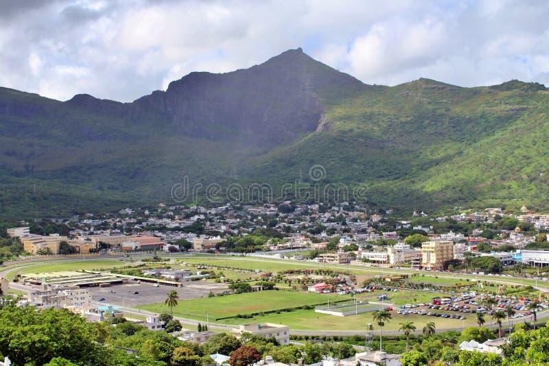 Pejza?u miejskiego widok od obserwacja pok?adu w forcie Adelaide, Port Louis, Mauritius obraz royalty free