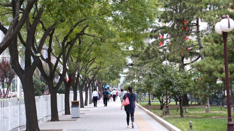 PEKÍN, CHINA - 6 de septiembre de 2016: Calzada entre 3ro Ring Road a 2do Ring Road fotos de archivo