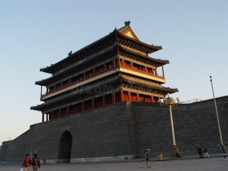 Pekín China - edificio de la Plaza de Tiananmen imagen de archivo libre de regalías