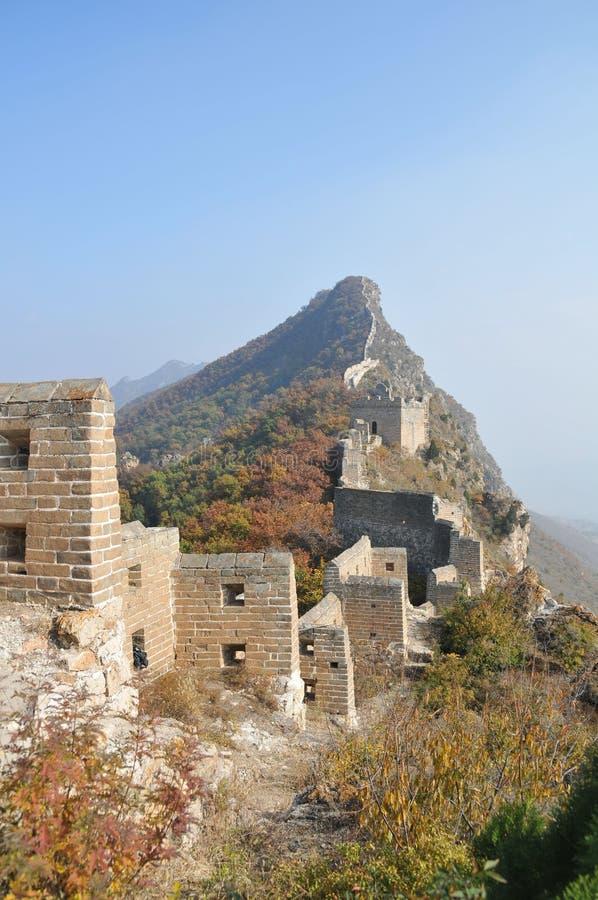 Pekín, China, Gran Muralla de Simatai fotografía de archivo libre de regalías