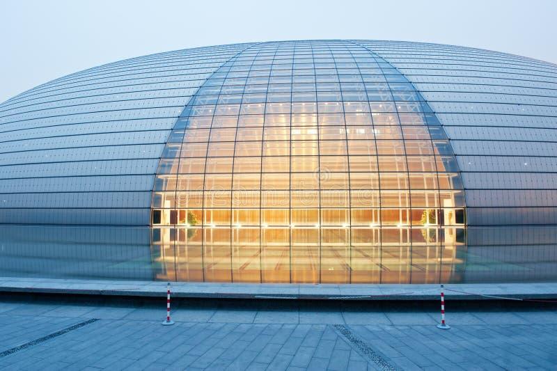Pekín, el teatro magnífico nacional imagen de archivo libre de regalías