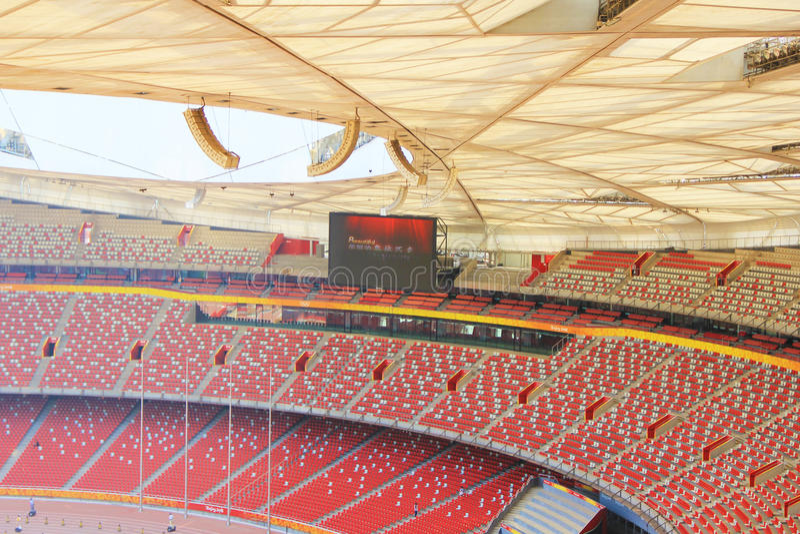 Pekín jerarquía nacional del estadio Olímpico/del pájaro s imagen de archivo