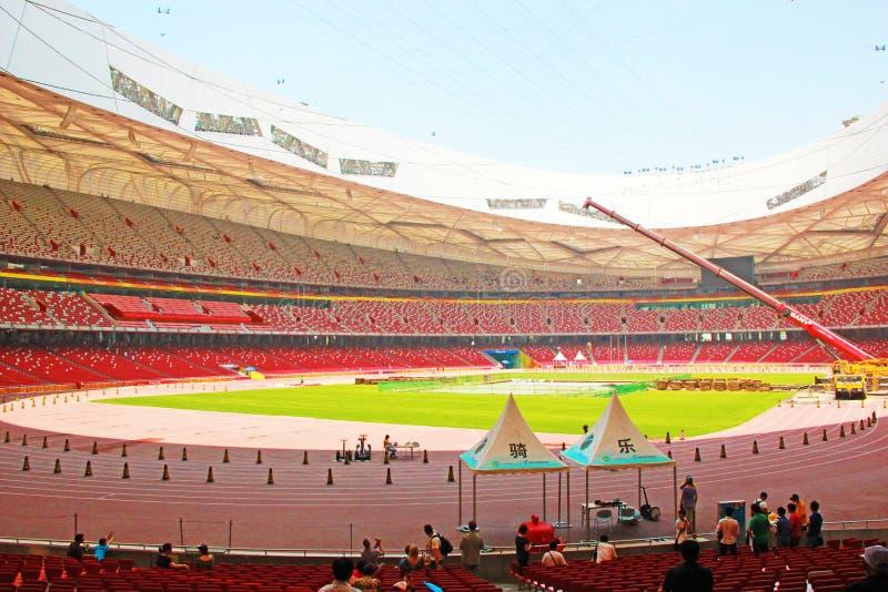 Pekín jerarquía nacional del estadio Olímpico/del pájaro s fotos de archivo libres de regalías