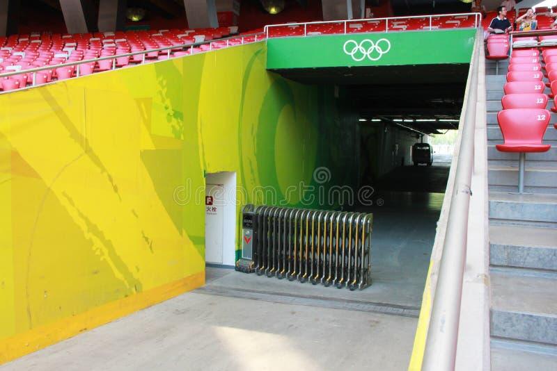 Pekín jerarquía nacional del estadio Olímpico/del pájaro s foto de archivo