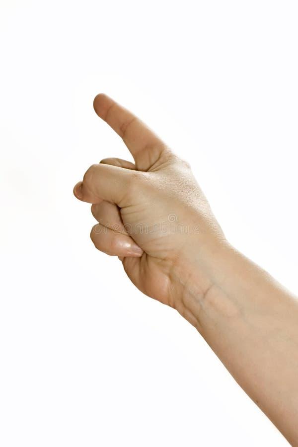 peka för finger arkivfoto
