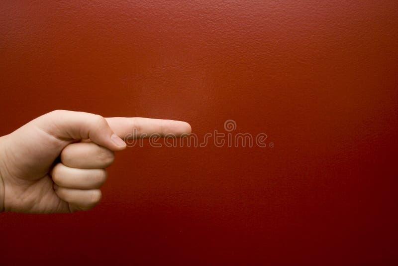peka för finger royaltyfri foto