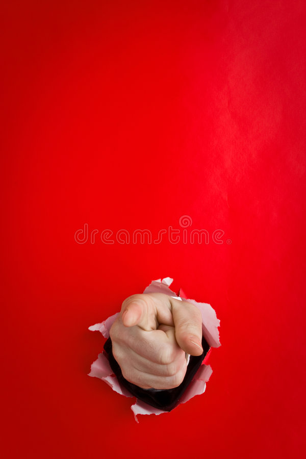 peka för handhål royaltyfri bild