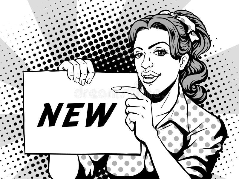 Peka för komiker som är nytt royaltyfri illustrationer