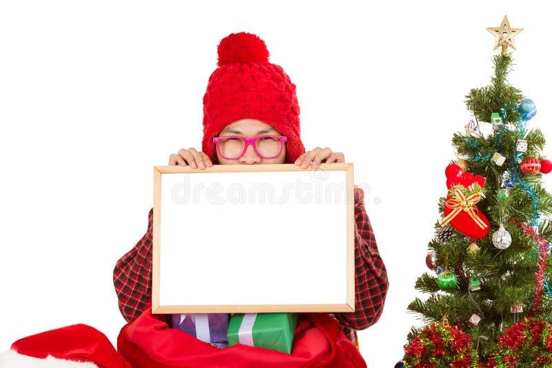 Peka för män för glad jul royaltyfria foton