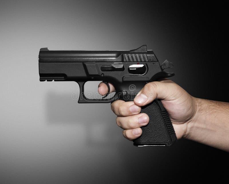 peka för pistol royaltyfria foton