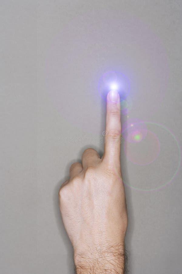 Download Peka fingerladdningen fotografering för bildbyråer. Bild av uppfinning - 78729929