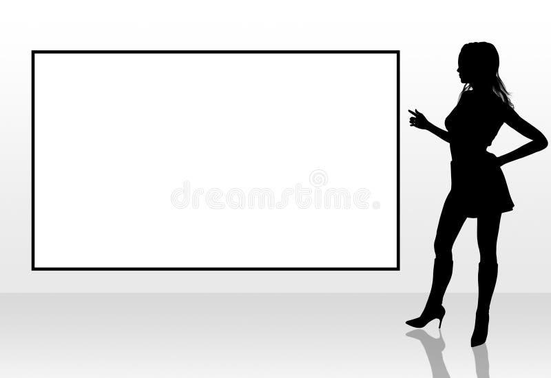 peka kvinnan stock illustrationer