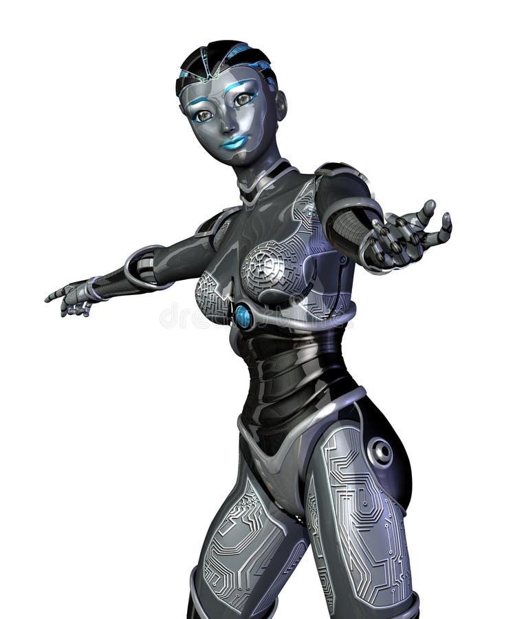 peka roboten royaltyfri illustrationer