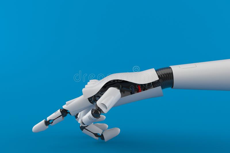 Peka robothanden royaltyfri illustrationer