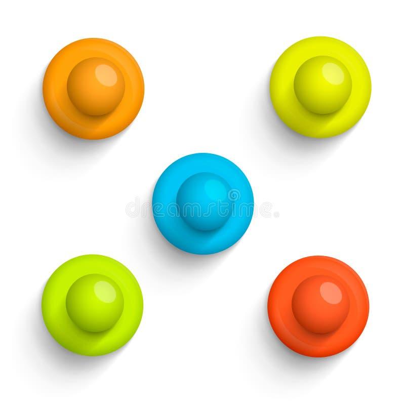 Peka symbolen för färguppsättningen på en vit bakgrund, vektorillustration stock illustrationer