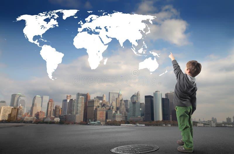 peka världen arkivbild