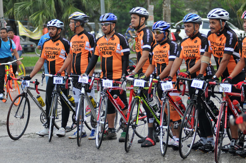 Pekan Royal Town Ride 2011. Where cyclist around east coast peninsular of Malaysia gather to cycle from Kuantan to Pekan and cycle back from Pekan to Kuantan stock photography