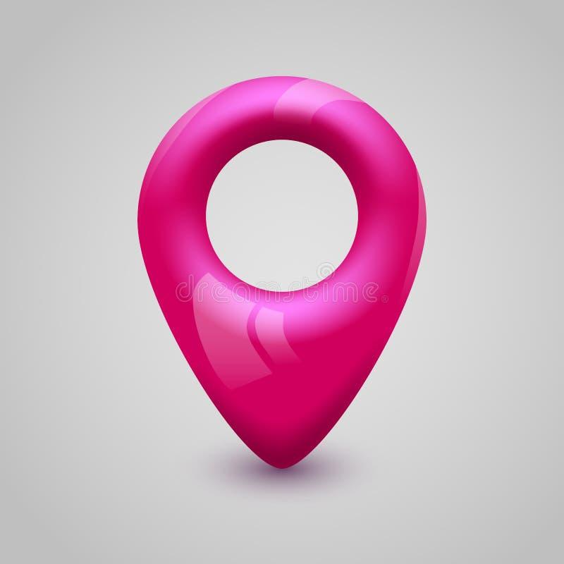 Pekare för rosa färgöversiktsstift modern design stock illustrationer