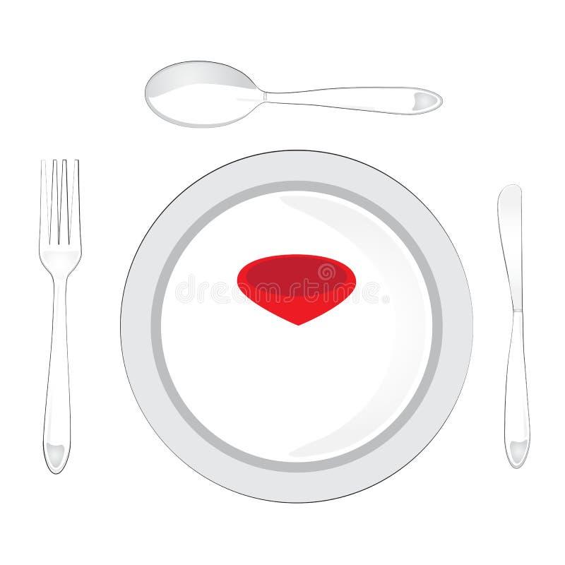 Pekare f?r vektorillustration?versikt med restaurangsymbolen royaltyfri illustrationer