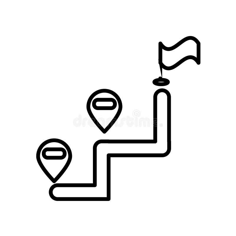 Pekaresymbolsvektor som isoleras på vit bakgrund, pekaretecknet, linjen eller det linjära tecknet, beståndsdeldesign i översiktss vektor illustrationer