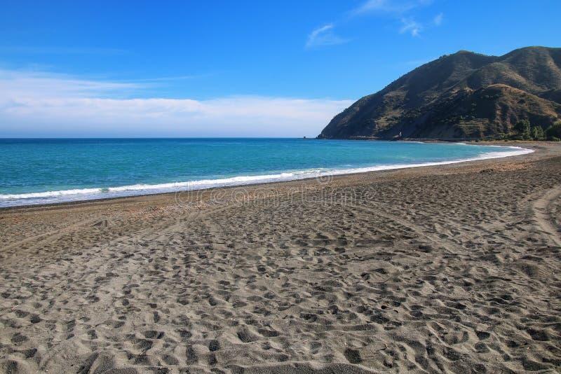 Peketa strand p? den s?dra ?n, Nya Zeeland fotografering för bildbyråer