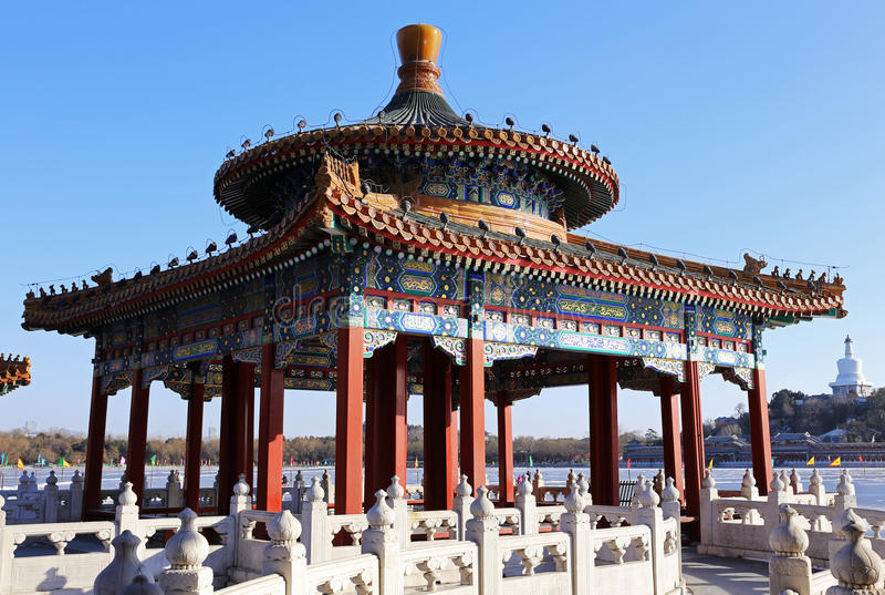 Pekin Beihai park zdjęcie stock