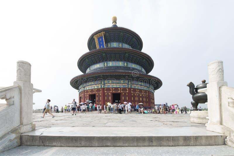 Pekin, Chiny - 08 15 2016: Świątynia niebo w Pekin, Chiny Cudowna historyczna chi?ska ?wi?tynia lokalizowa? w Pekin, Chiny obraz stock