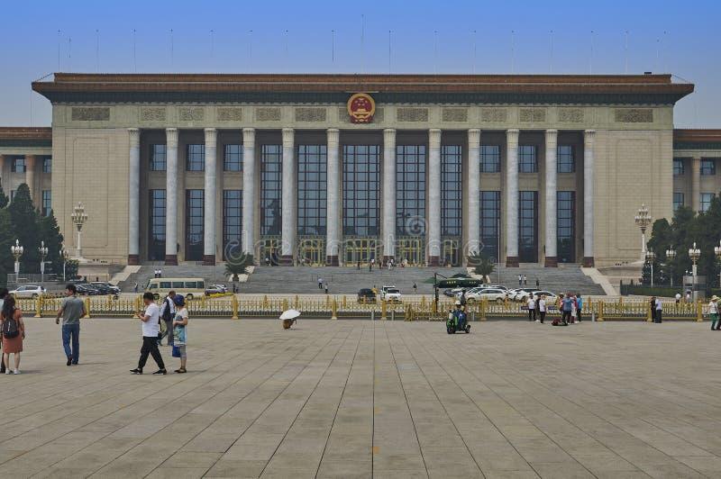 Pekin Chiny, Czerwiec, - 2019: Wielka Hala Ludowa zdjęcia royalty free