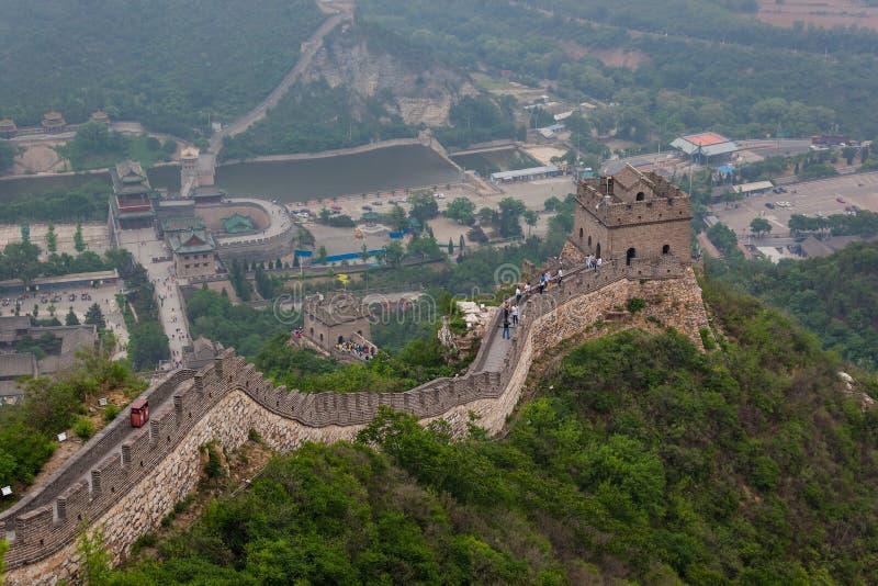 Pekin Chiny, Maj, - 15, 2018: Wielki Mur Chiny przy Badaling obrazy royalty free