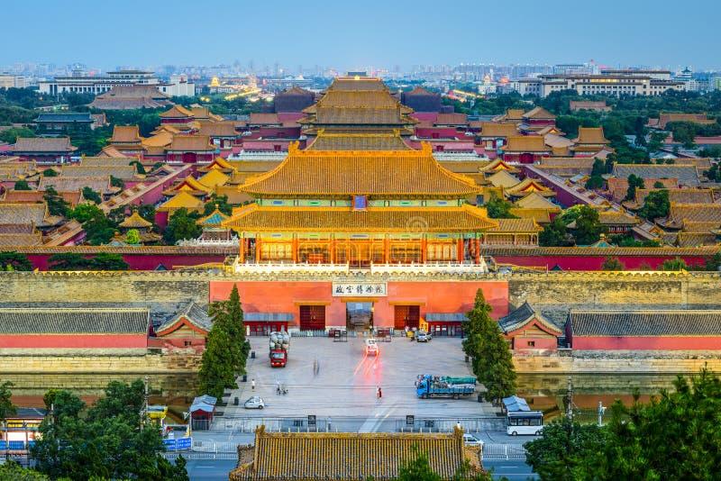 Pekin, Chiny przy Niedozwolonym miastem zdjęcia stock