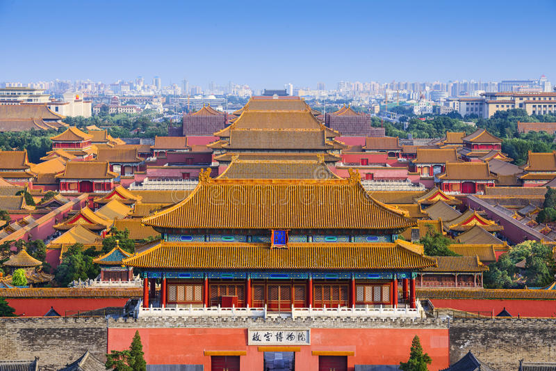 Pekin Chiny Zakazujący miasto zdjęcia stock