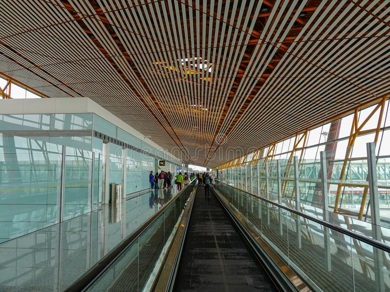 Pekin Kapitałowy lotnisko, Chiny obraz royalty free